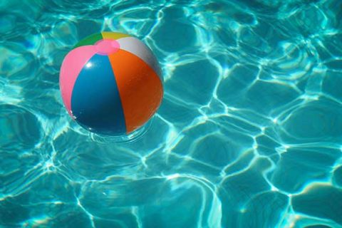ball in swimming pool