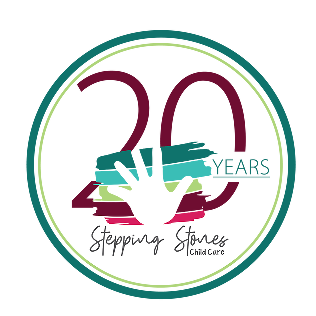 20 years stepping stones child care logo