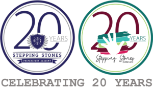 stepping stones celebrating twenty years logos