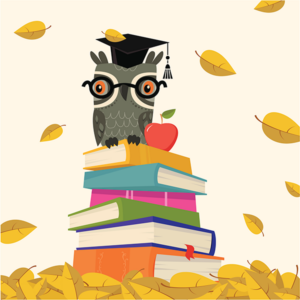 owl with book back to school